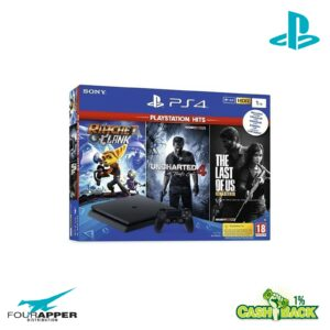PS4 1TB BLACK + Ratchet & Clank + The Last of Us Remastered + Uncharted 4